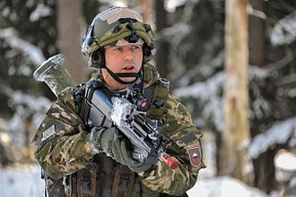 Slovenian Armed Forces - A Slovenian soldier with a FN F2000 assault rifle