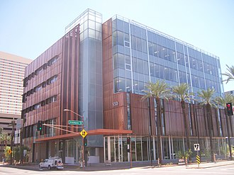 Arizona State University Downtown Phoenix campus - Health North building on the ASU Downtown Campus