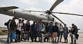 A Group of Geology student of Nepal before being airlifted by an Indian Air Force (IAF) Mi-17 V5 helicopter on study tour to different places of earthquake affected areas post a recent massive earthquake, in Nepal.jpg
