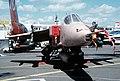 A Jaguar International aircraft sits on display at the 1991 Paris Air Show - DPLA - c2e389c97f3b140b2d84b136bd79cabf.jpeg