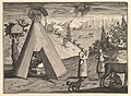 "A Lapland Hut (Aubry de La Mottraye's ""Travels throughout Europe, Asia and into Part of Africa...,"" London, 1724, vol. II, pl. 38) MET DP824508.jpg"