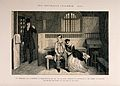 A convicted thief sits in prison with his distraught sister Wellcome V0019419.jpg
