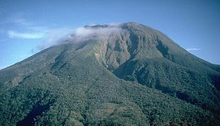 Mount Bulusan active volcano in the Philippines