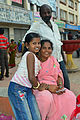 A family at Dufferin Clock Tower Square, Mysore.jpg