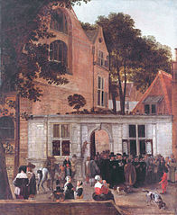 The conferring of a degree at the University of Leiden around 1650
