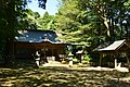 A main shrine and Purification trough (temizuya) of Tarenui-jinja shrine (Miho village, Ibaraki Pref.).jpg