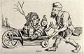 A man in ragged clothes pushing a woman sitting in a wheelba Wellcome V0020318.jpg