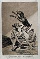 A naked witch watching a seated monster grabbing a jumping g Wellcome V0025842.jpg