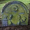 A symbolic gravestone in Kirkland and Glencairn Kirkyard - geograph.org.uk - 1721467.jpg