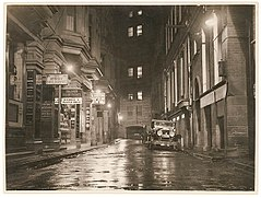 A wet Angel Place, Sydney, 1930s - Sam Hood (3293630577).jpg