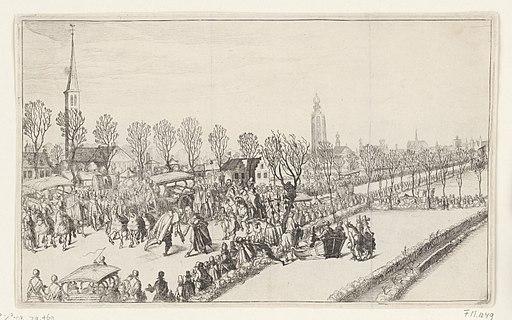 Aankomst van de vijf Spaanse ambassadeurs te Rijswijk, februari 1608