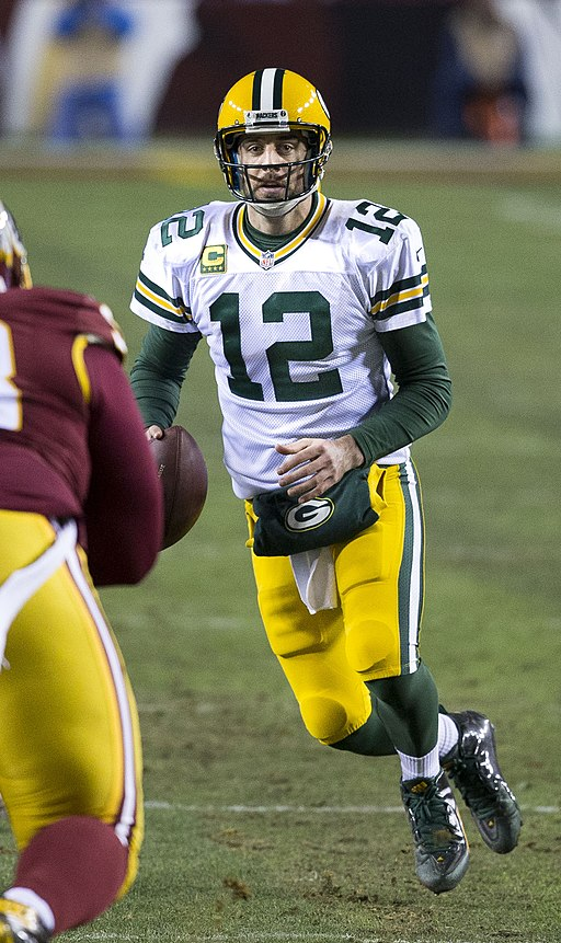 Aaron Rodgers, Redskins v Packers, Jan 2016