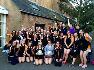Abbots Bromley - Some of the members of the four senior netball teams