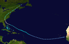 Track map of Hurricane Able