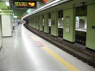 Achasan station - Station platform
