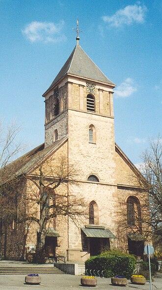 """Achern - Achern's Church """"Unserer lieben Frau"""" in Weinbrenner-Stil"""