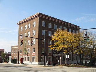 Franklin Hotel (Kent, Ohio) - Front in October 2013