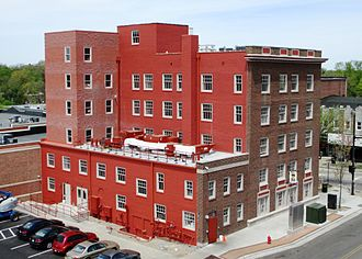 Franklin Hotel (Kent, Ohio) - Rear of the building in May 2013 after main renovation was finished