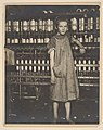 "Addie Card, 12 years. Spinner in North Pownal Cotton Mill. Girls in mill say she is ten years. She admitted to me she was twelve; that she started during school vacation and now would ""stay"". Location- Vermont MET DP237967.jpg"