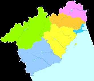 Huludao - Image: Administrative Division Huludao