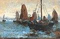 Adolf Kaufmann (attr.) - Meereslandschaft mit vielen Segelbooten.jpg
