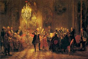 Adolph von Menzel - A Flute Concert of Frederick the Great at Sanssouci - WGA15051.jpg