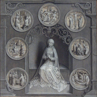 Our Lady of Sorrows - Mary surrounded by the Seven Sorrows