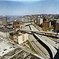 Aerial of Interstate 5, north from Downtown Seattle, 1971.jpg