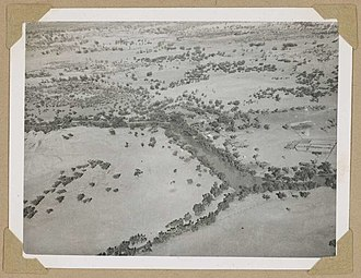 Norley, Queensland - Aerial view of Norley Station, June 1946