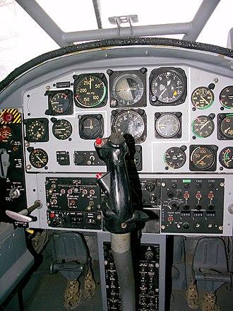 Aermacchi AM.3 - Bosbok cockpit
