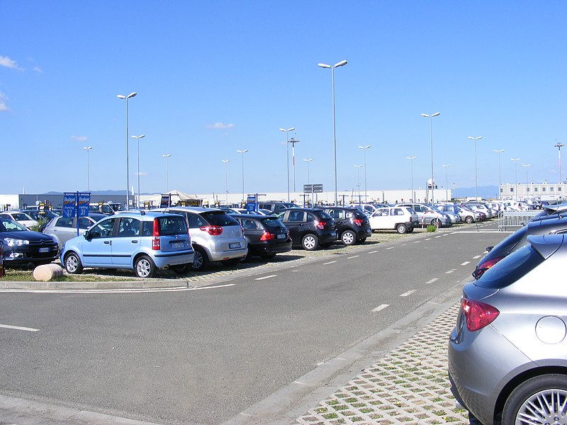 File:Aeroporto di Firenze - Parking lot for rental cars.jpg