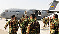 Afghan National Army soldiers walk to their C-17 cargo plane (4410163323).jpg