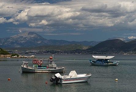 Stormy weather in Agios Minas bay