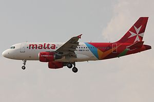 Air Malta - Air Malta Airbus A319-500 in current livery