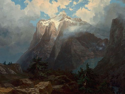 Albert Bierstadt - Mount Brewer from King's River Canyon, California