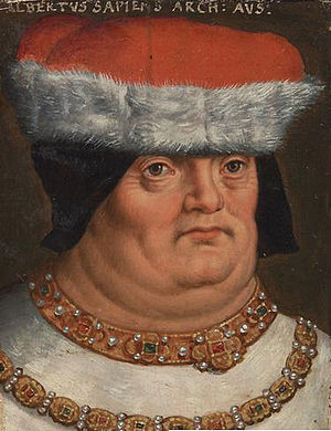 Albert II, Duke of Austria - 16th century portrait by Anton Boys