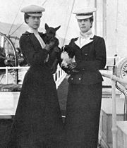 Alexandra (right) with her daughter Victoria