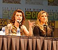 Ali Larter and Milla Jovovich at Comic Con 2010.jpg