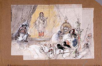 Founding of the Nation - Image: Ama no Iwato by Kawamura Kiyoo (Edo Tokyo Museum)