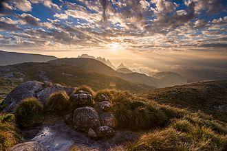 Serra dos Órgãos National Park - Landscape of the park as seen from the Castelo do Açu peak