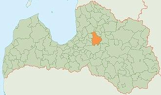 Amata Municipality - Image: Amatas novada karte