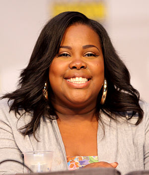 English: Amber Riley at the 2010 Comic Con in ...