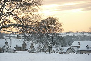 Amberley, Gloucestershire - Image: Amberley in the Snow geograph.org.uk 1254580