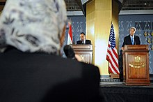 An Egyptian Journalist Questions Secretary Kerry in Cairo (10654287553).jpg