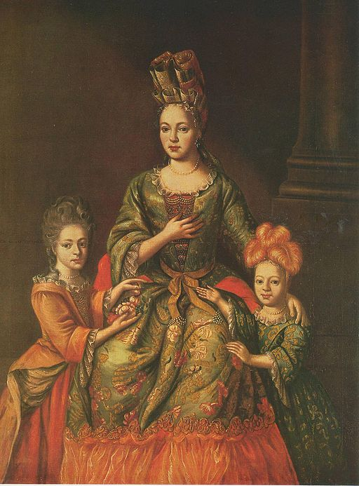 Anastasia Naryshkina with children
