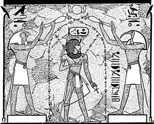 Anointing - Anointing of Pharaoh in Ancient Egypt, image from the 1901-1906 Jewish Encyclopedia.