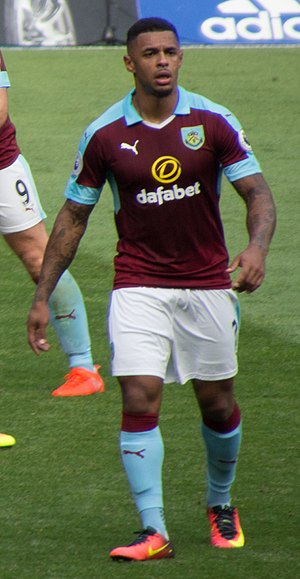 Andre Gray - Gray playing for Burnley in 2016