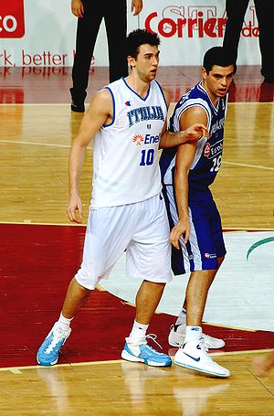 Andrea Bargnani - Bargnani playing for the Italian national team
