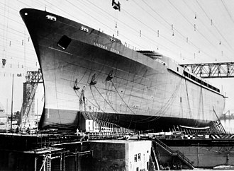 SS Andrea Doria - Andrea Doria under construction, June 1951.