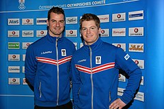 Andreas and Wolfgang Linger - Team Austria Winter Olympics 2014.jpg